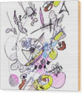 Abstract Drawing Seventy-two Wood Print