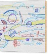 Abstract Drawing Sixty-three Wood Print