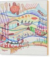 Abstract Drawing Three Wood Print