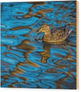 Abstract Duck Wood Print