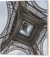 Abstract Eiffel Tower Looking Up 2 Wood Print