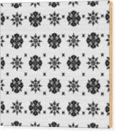 Abstract Ethnic Seamless Floral Pattern Design Wood Print