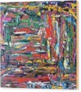 Abstract Expressionism Bvdschueren Wood Print