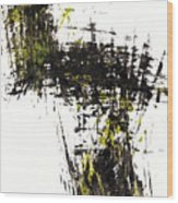 Abstract Expressionism Intensive Painting 62.102511   Wood Print