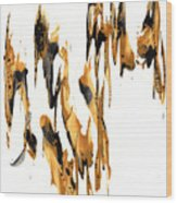 Abstract Expressionism Painting Series 734.102910 Wood Print