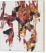 Abstract Expressionism Painting Series 744.102110 Wood Print
