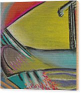 Abstract Expressive 002 Wood Print