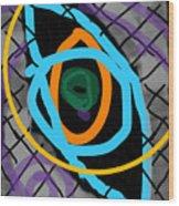 Abstract Eye Wood Print