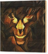 Abstract Face Wood Print