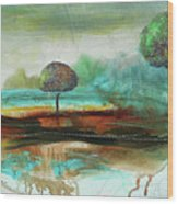 Abstract Fantasy Landscape Wood Print