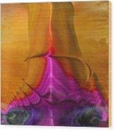 Abstract Fantasy Sailing Wood Print