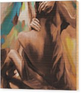 Abstract Female Back  Wood Print