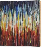 Abstract Fire And Ice Wood Print