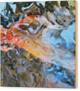 Abstract Fish Art - Fairy Tail Wood Print
