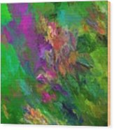 Abstract Floral Fantasy 071912 Wood Print