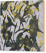 Abstract Floral Study Wood Print