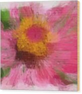 Abstract Flower Expressions Wood Print