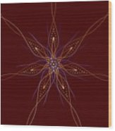 Abstract Flower Mandala Wood Print