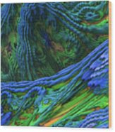 Abstract Fractal Landscape Wood Print