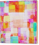 Abstract Geometric Colorful Pattern Wood Print