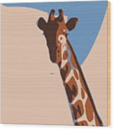 Abstract Giraffe Wood Print