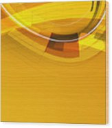 Abstract Golden Arcs And Lines Wood Print