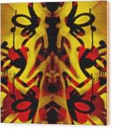 Abstract Graffiti 19 Wood Print