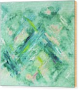 Abstract Green Blue Wood Print