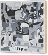 Abstract Grey Wood Print