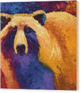Abstract Grizz II Wood Print