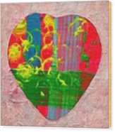 Abstract Heart 310118 Wood Print