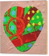 Abstract Heart 40218 Wood Print