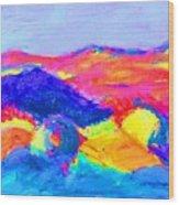 Abstract Hills Wood Print