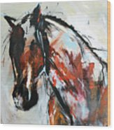 Abstract Horse 12 Wood Print