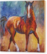 Abstract Horse Attitude Wood Print
