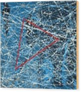 Abstract in blue and red Wood Print