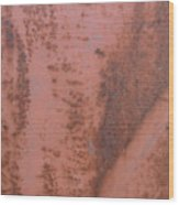Abstract In Rust Wood Print