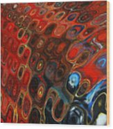 Abstract-infinity Two Wood Print by Patricia Motley