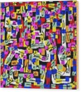 Abstract Laberinto 2 Wood Print