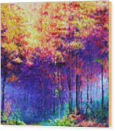 Abstract Landscape 0830a Wood Print