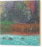 Abstract Landscape 15-oo Wood Print