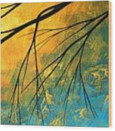 Abstract Landscape Art Passing Beauty 2 Of 5 Wood Print