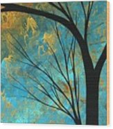 Abstract Landscape Art Passing Beauty 3 Of 5 Wood Print