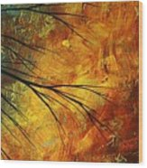 Abstract Landscape Art Passing Beauty 5 Of 5 Wood Print