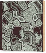 Abstract Landscape - Hand Drawn Pattern Wood Print