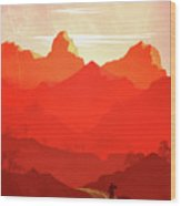 Abstract Landscape Mountain Road Art 5 - By Diana Van Wood Print