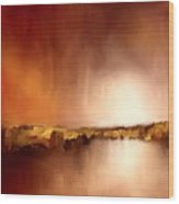 Abstract Landscape Reflection Wood Print