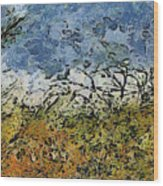 Abstract Landscape Wood Print