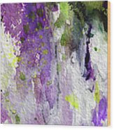 Abstract Lavender Cascades Wood Print