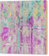 Abstract Lights  Wood Print